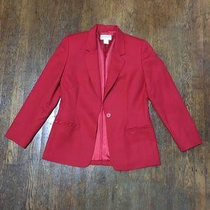 Pendelton Red Blazer. 100% Virgin Wool. Size 4P